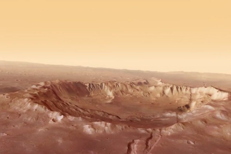 Animation: Rundflug über den Mars