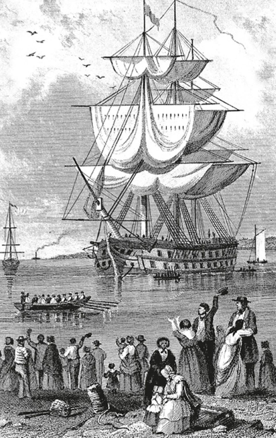 Das Britische Empire: Mehr als 800 britische Gefangenen- schiffe laufen Australien an, etwa 160.000 Menschen werden verbannt