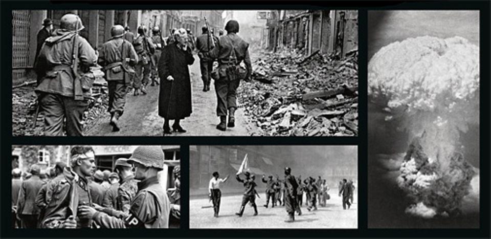 Geschichte in Bildern: In Europa und Asien rücken die alliierten Armeen mit gewaltigen Offensiven gegen die Heimatländer der Aggressoren vor