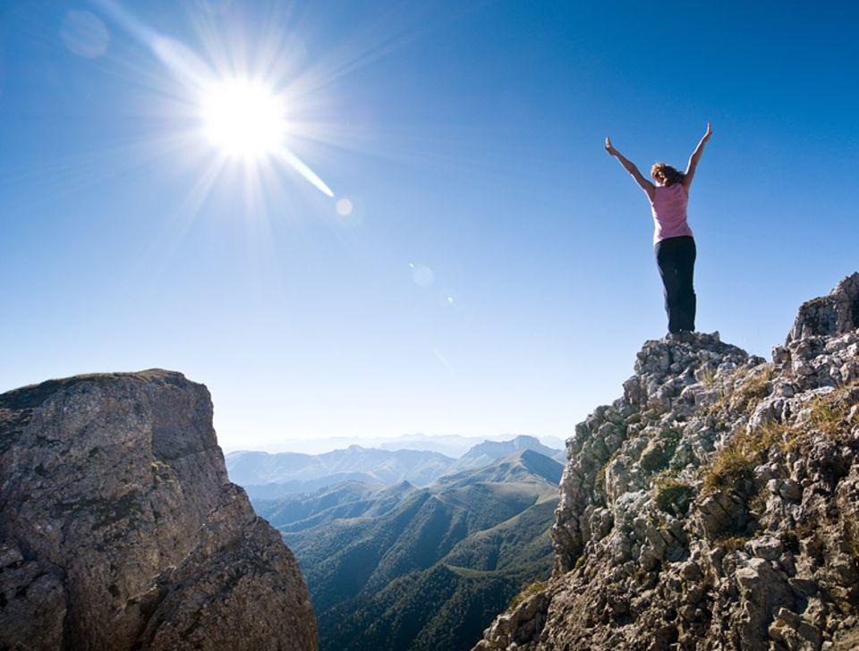 """Redewendung: Das Gefühl, etwas nahezu Unmögliches zu schaffen wird auch als das Gefühl beschrieben, """"Berge versetzen zu können"""""""