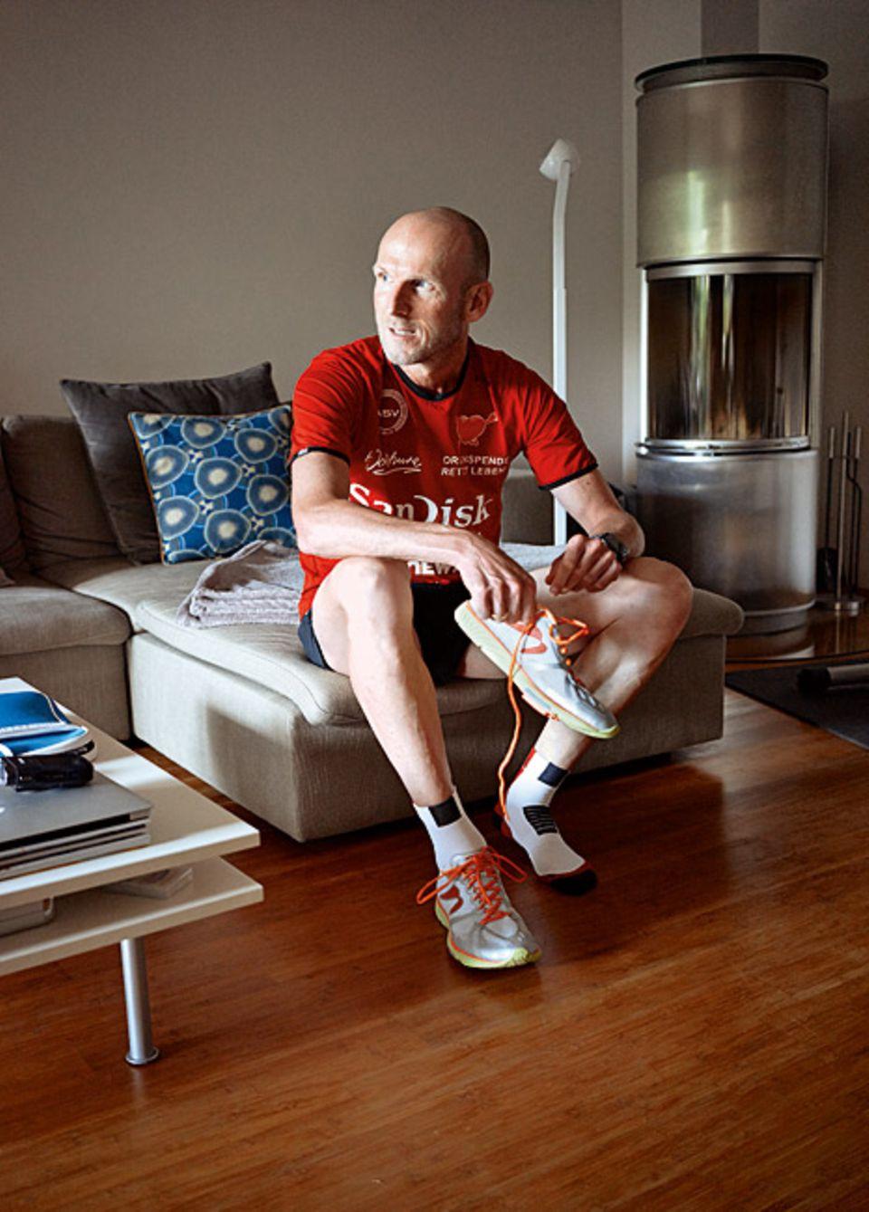 Herzleiden: Elmar Sprink denkt oft an jenen ihm unbekannten Menschen, dem er sein neues Leben verdankt. An Sportveranstaltungen nimmt er daher auch als Botschafter für die Organspende teil