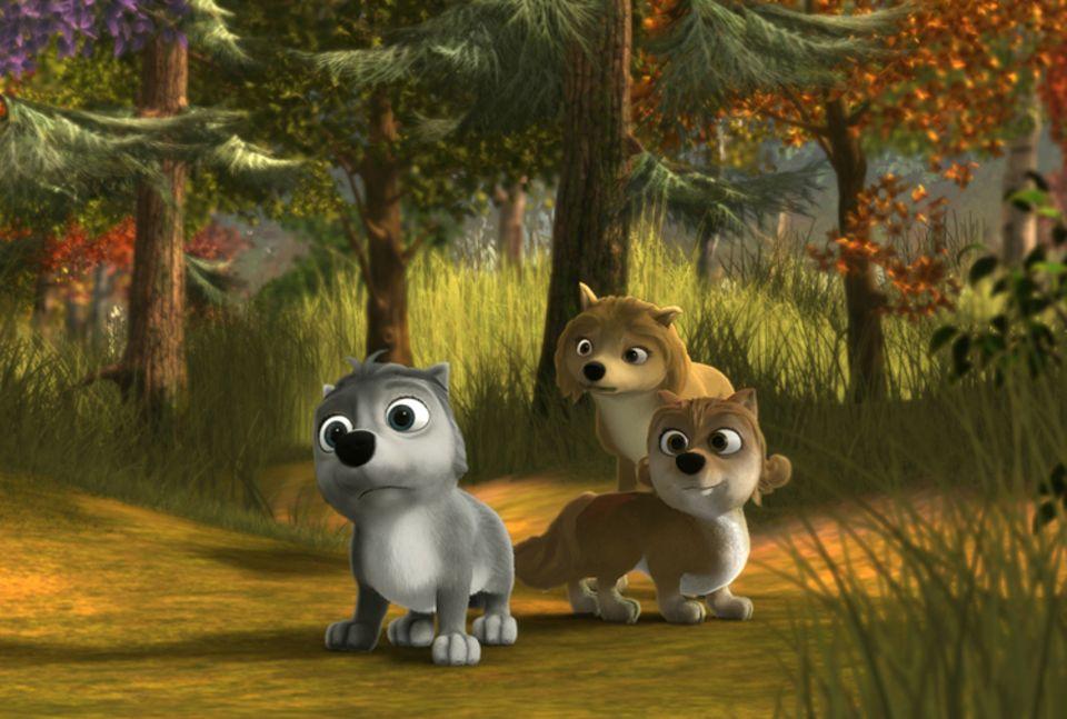 Filmtipp: Die Geschwister Runt (l.) und Claudette (r.) und ihre Mutter Kate fürchten den dunklen Schattenwald
