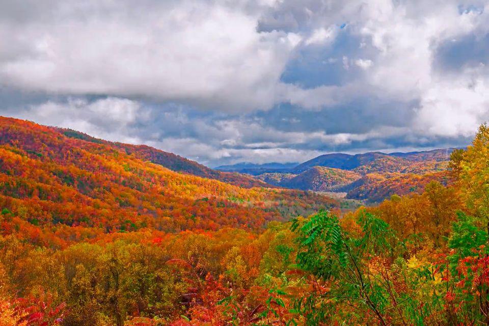 Video: Herbstliche Smoky Mountains