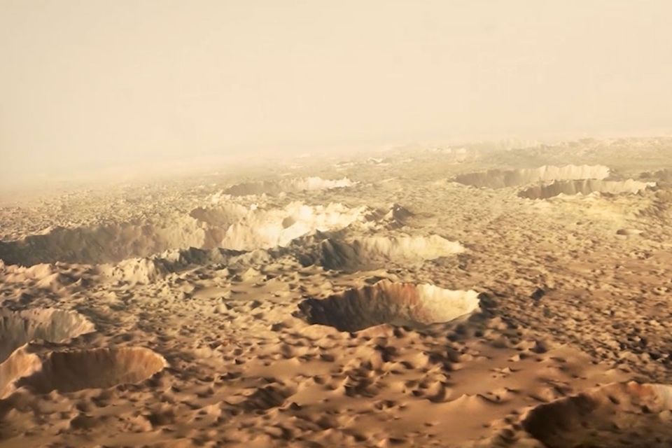 Animation: Der echte Weg des Marsianers