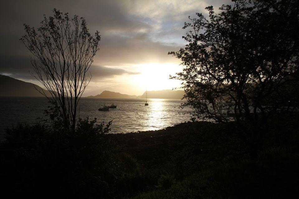 Knoydart in Schottland: Wenn es Nacht wird in Inverie, machen auch die Boote fest
