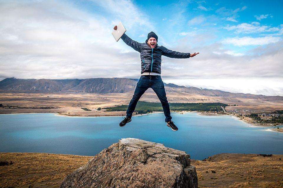 Der Traum vom Reisen: Immer unterwegs und oft online: Reiseblogger Sebastian Canaves verdient mit dem Reisen inzwischen seinen Lebensunterhalt