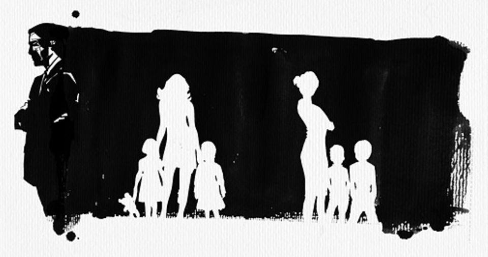 Familie: Der Mann hat zwei Söhne mit der einen Frau, einen Sohn und eine Tochter mit der anderen. Drei der Kinder gehen auf die gleiche Schule