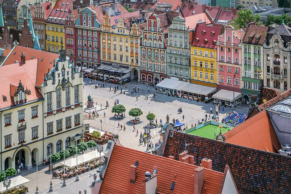 Kulturhauptstadt 2016: Vom kulturellen Erbe, das die Deutschen in Breslau hinterließen, erzählt vor allem der zentrale Platz Rynek