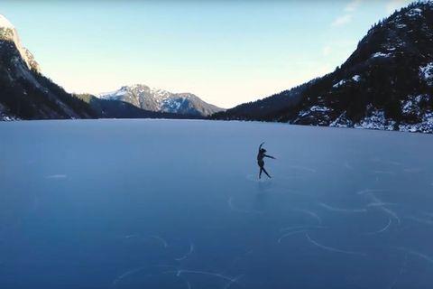 Video: Eiskunstlauf auf 2500 Metern