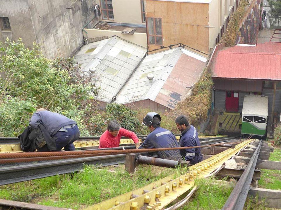 Reparatur am Aufzug Cordillera