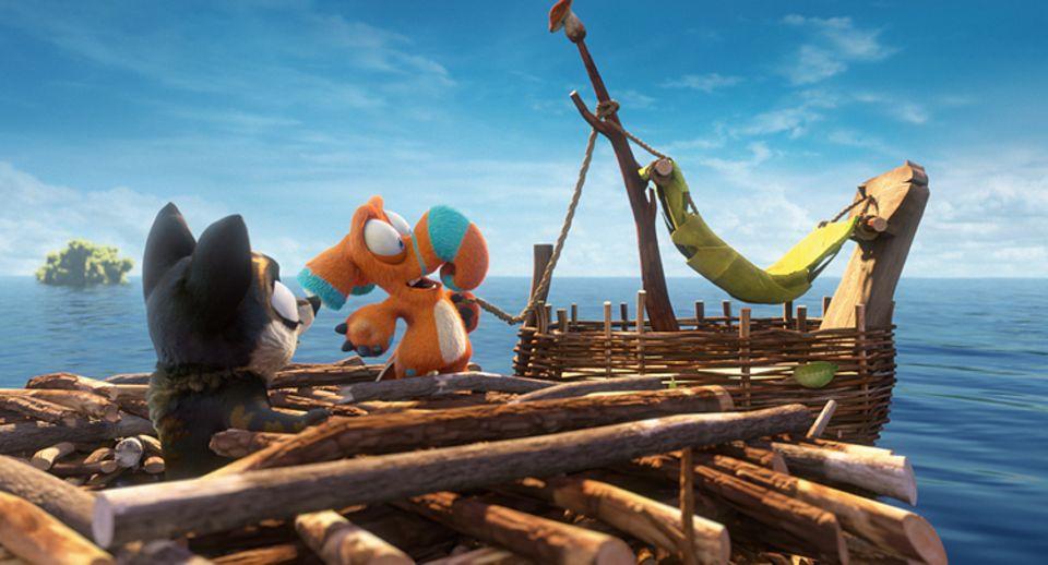 Filmtipp: Die beiden Freunde bauen sich ein eigenes, kleines Boot. Ob das hält...?