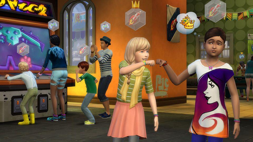 """Spieletest: In """"Sims 4 - Zeit für Freunde"""" könnt ihr eure Sims mit aufregenden Gruppenaktivitäten bei Laune halten"""