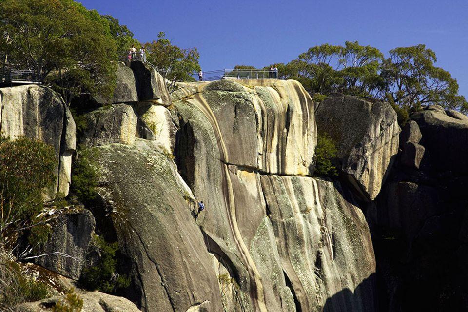 Australien: Der Mount Buffalo-Nationalpark zählt zu den ältesten Schutzgebieten in den australischen Alpen und wird von den Flüssen Buffalo River und Ovens River begrenzt