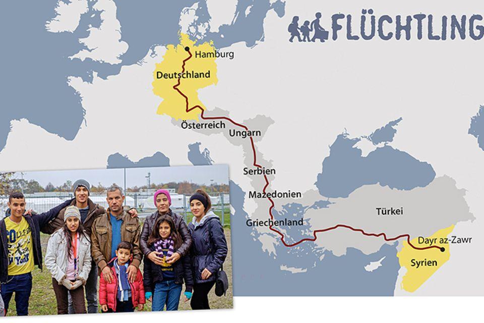 Flüchtlingskrise: Familie Alhays floh aus Syrien bis nach Hamburg