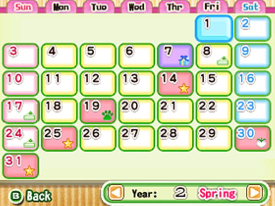Konsolenspiel: Achte auf den Kalender, um rechtzeitig Samen zu säen
