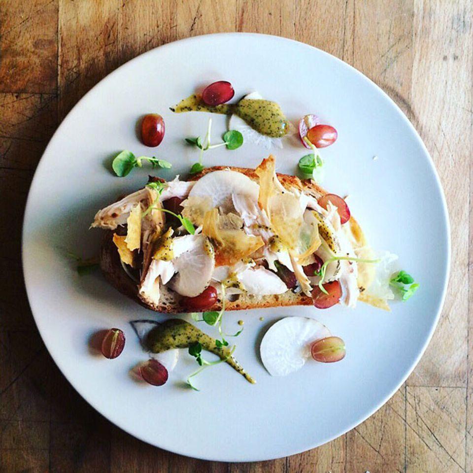 Reisetipps: Selbst das Sandwich wird in der Bäckerei Trove wir ein Kunstwerk angerichtet