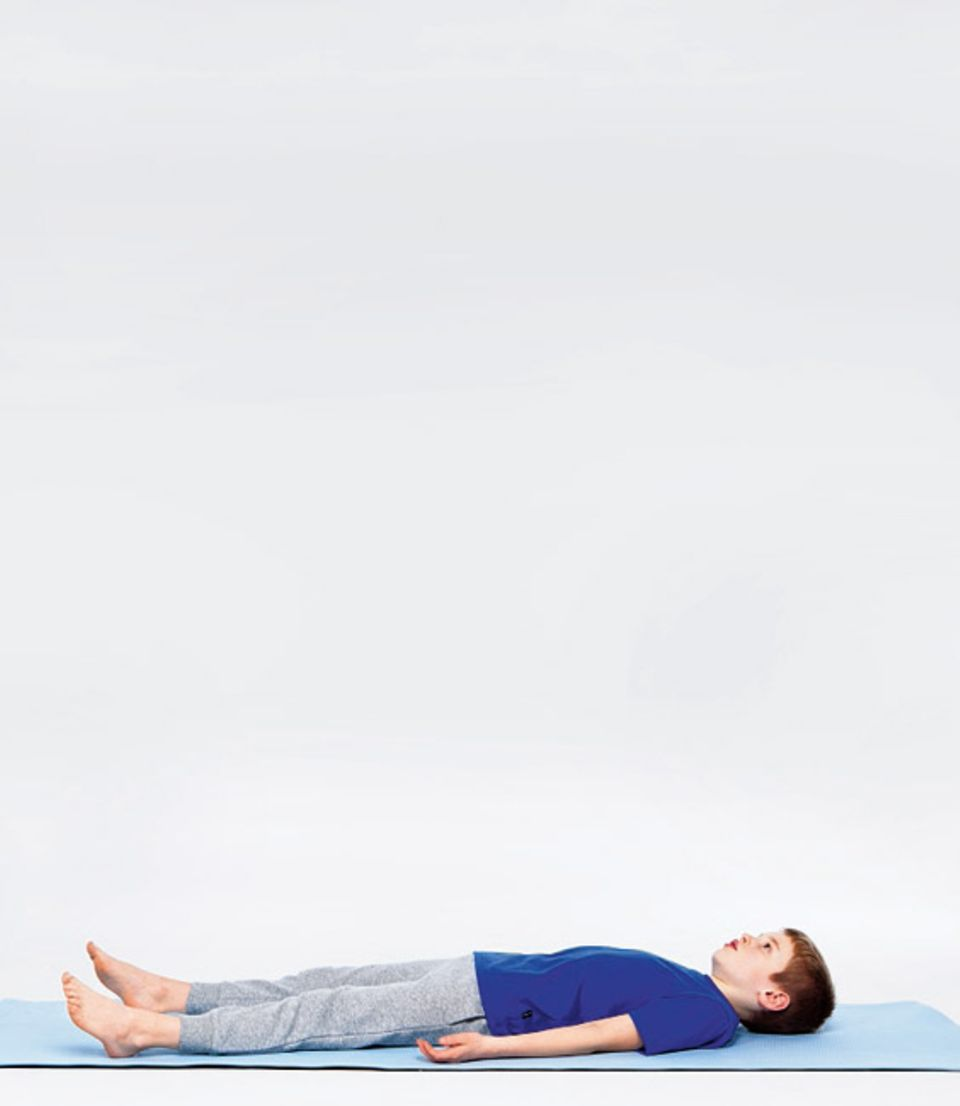 Bewegung: Die Entspannungshaltung: Schritt 1