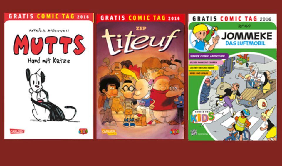 Comics: Für den Gratis Comic Tag wurden 34 einzigartige Comics produziert