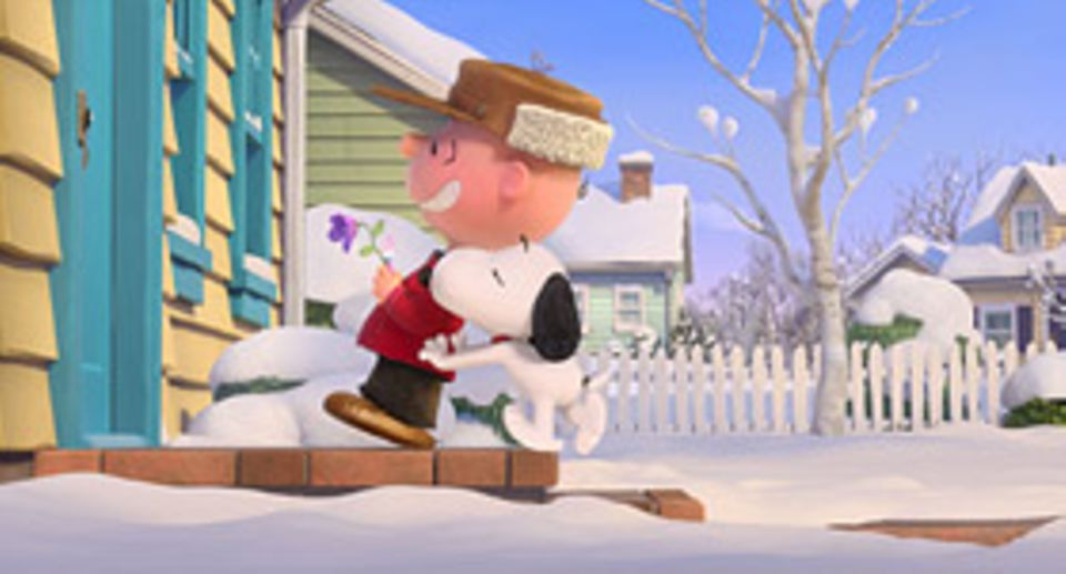 Filmtipp: Mit Snoopys Hilfe traut sich Charlie Brown endlich an der Haustür des roothaarigen Mädchens zu klingeln