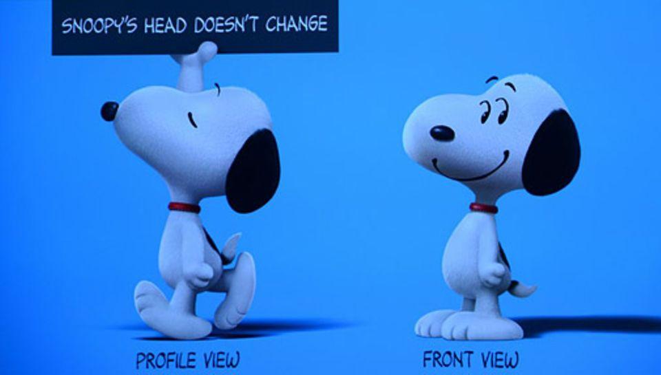 Filmtipp: Snoopy hat von vorne gesehen je ein Auge auf einer Seite seines Kopfes, sieht man ihn von der Seite, sind aber plötzlich beide Augen auf der selben Seite des Kopfes