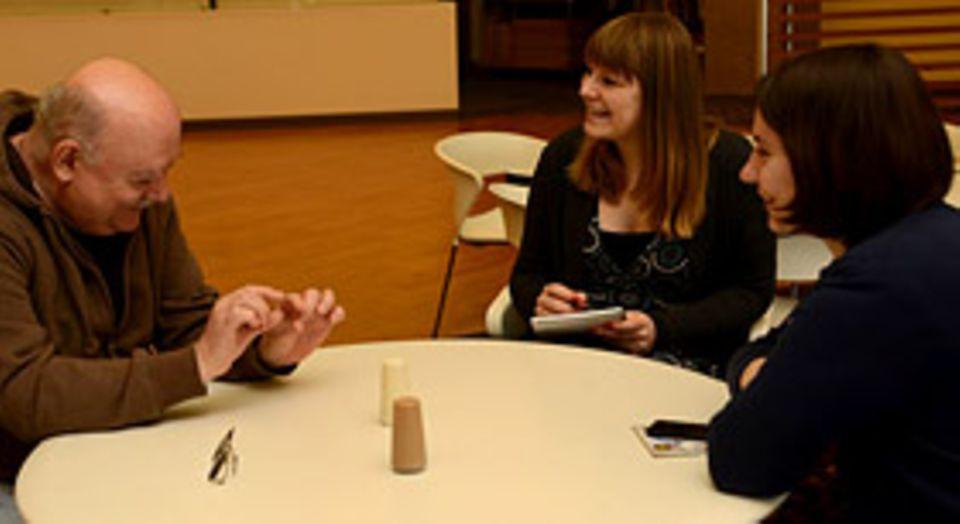 Filmtipp: Beim Interview: rechts Sabine Heller, links Harald Kraut. Die beiden Deutschen arbeiten in den Blue-Sky-Studios in der Nähe von New York, USA