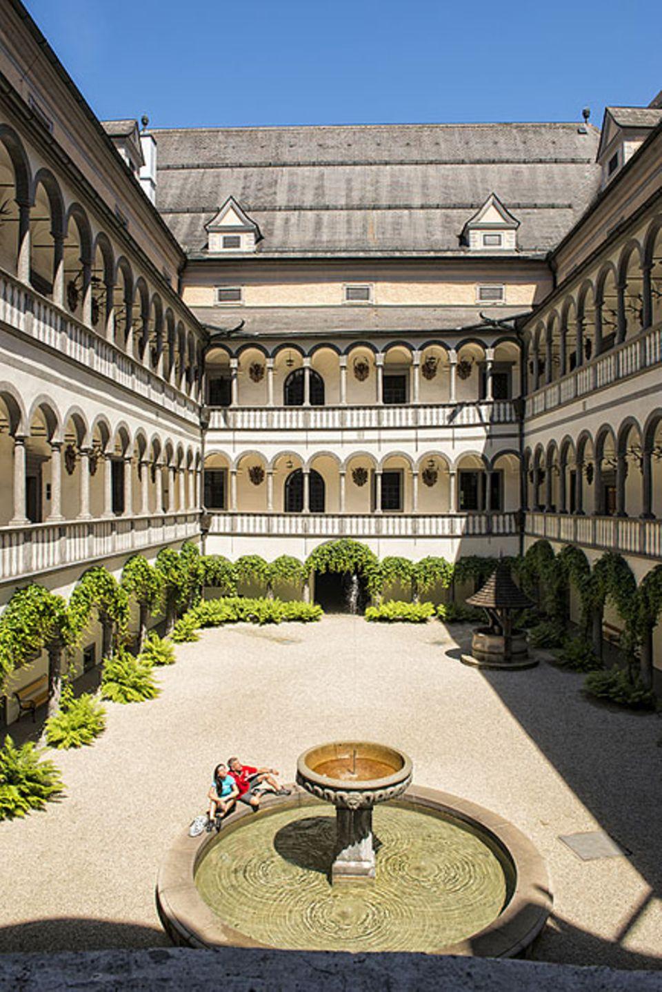 Donauradweg: Die Tour auf dem Donauradweg führt zu Kulturschätzen wie Schloss Greinburg