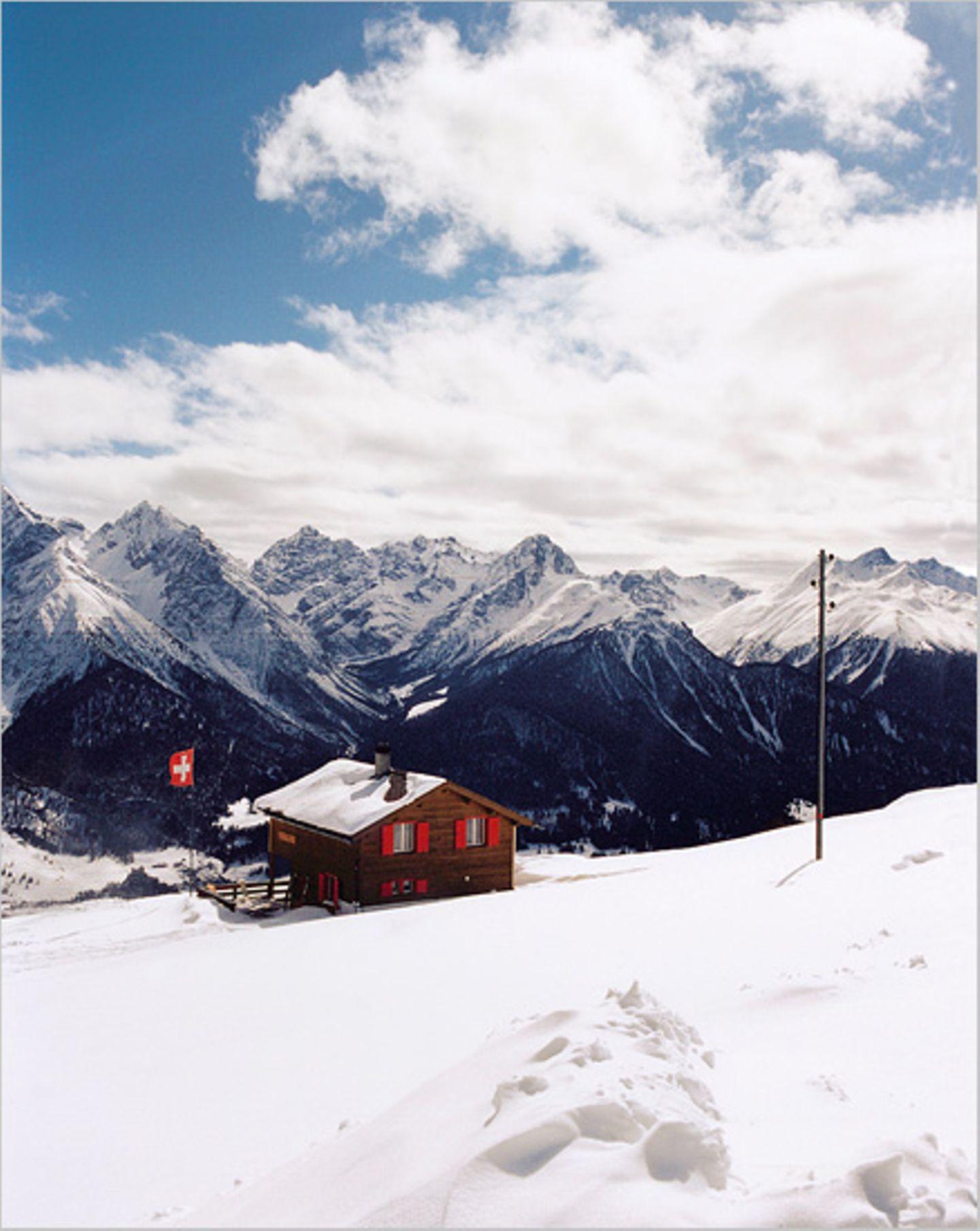 Schweizer Alpen: Winterwandern im Unterengadin