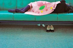Fotogalerie: Sleeping in Airports