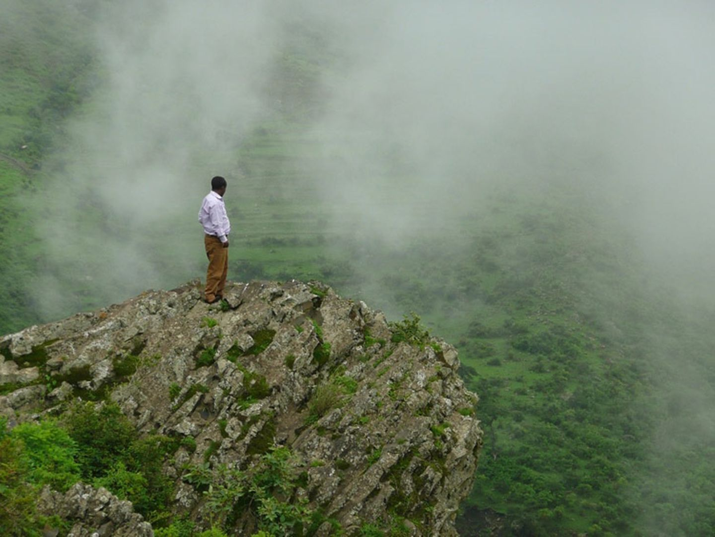 Wanderer in Äthiopien