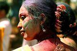 """Holi """"Festival der Farben"""" in Santiniketan, Indien"""