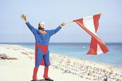 Supermann am Strand