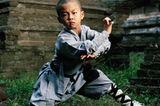 Kung-Fu Schüler und Kinderschauspieler