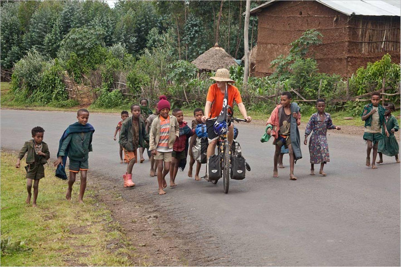Fotogalerie: Mit dem Fahrrad durch Afrika