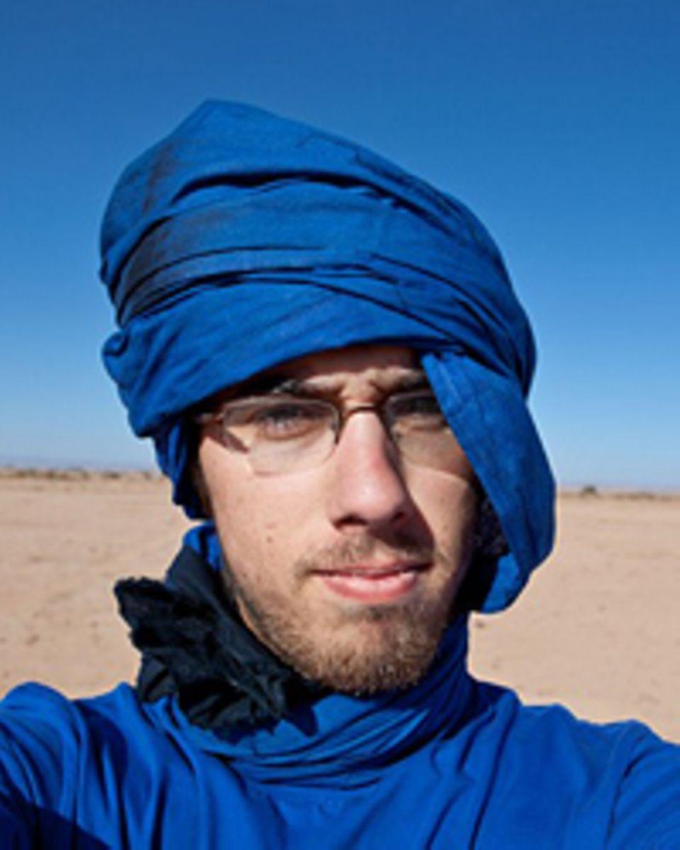 Fabian Nawrath (22) auf seiner Reise durch die Sahara