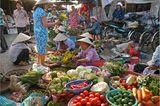 Gemüsemarkt in Hoi An, Vietnam