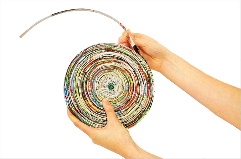 Basteln: Basteltipp: Schalen aus Altpapier - Bild 6