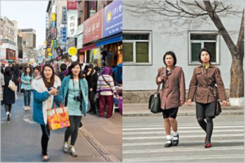 Fotogalerie: Die zwei Gesichter Koreas