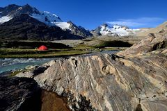Zelten im Valle Hermoso