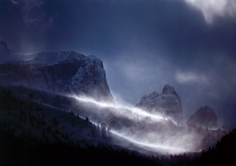 Sturm in den Dolomiten (Italien)