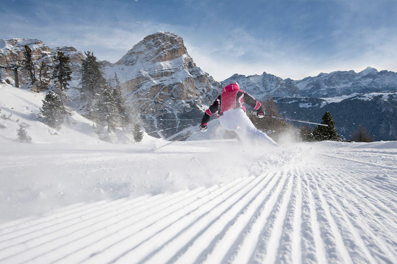 Schneesicher: Alta Badia/Hochabteital, Dolomiten, Südtirol, Italien