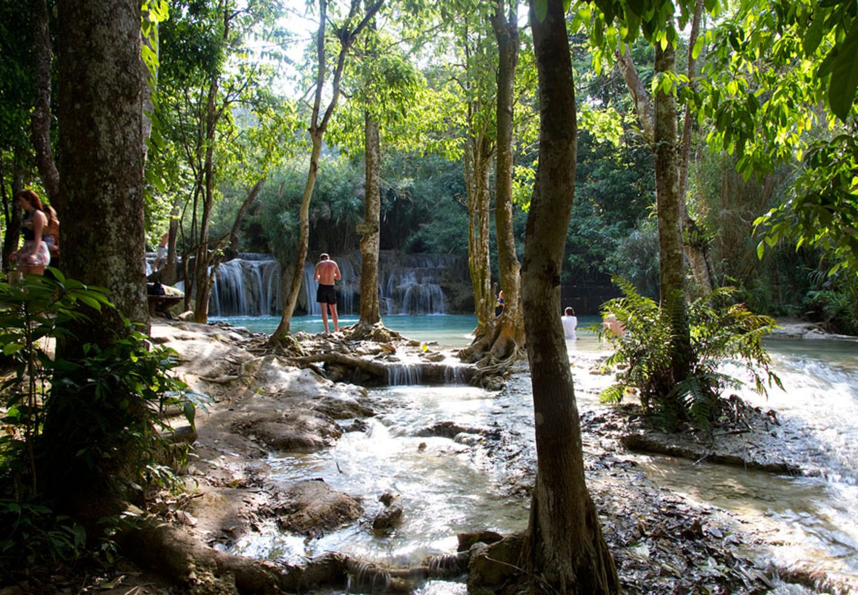 Tat Kuang Si Wasserfall, Luang Prabang, Laos