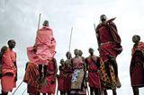 Junge Krieger in Kenia