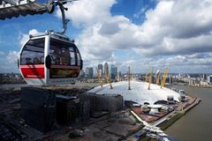 Über den Docklands schweben