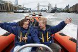 Im Speedboat über die Themse rasen