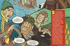 Wikinger: Comic: Eine Frau steht ihren Mann