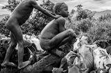 Surma-Kinder, Omo-Tal, Äthiopien