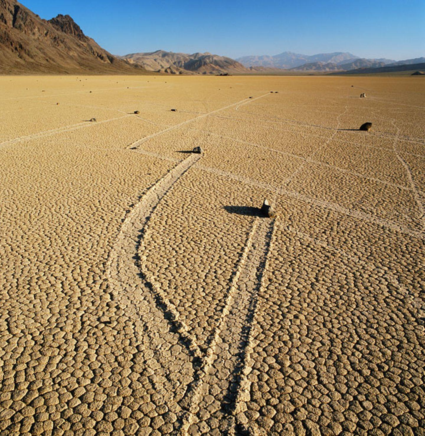 Wandernde Felsen, Death Valley, Kalifornien