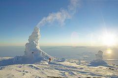 Eistürme am Mount Erebus, Antarktis