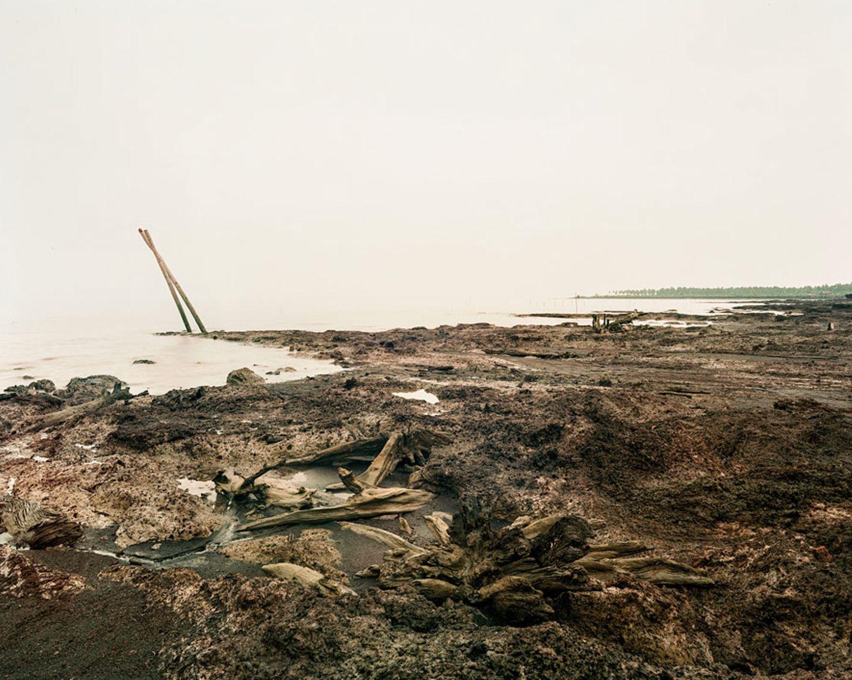 Erosion in den Magroven, Sumatra