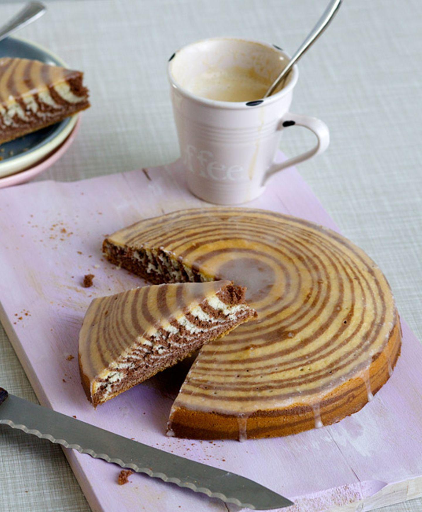 Backen: Rezept Zebrakuchen